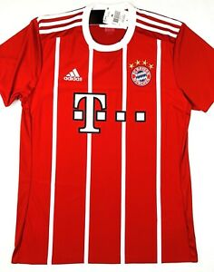 0c705133e Image is loading NWT-BAYERN-MUNICH-2017-18-M-L-Home-Adidas-