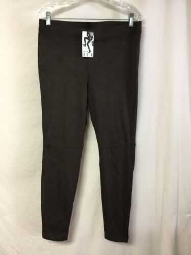 NWT Women/'s HUE Ultra Suede Leggings Size Large Espresso #928P