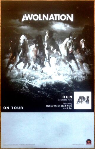 FREE Alt Indie Rock Pop Poster! AWOLNATION Run Ltd Ed Discontinued RARE Poster