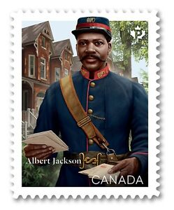 ALBERT-JACKSON-BLACK-HISTORY-Single-stamp-cut-from-Booklet-MNH-VF-Canada-2019