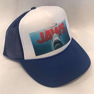 09b5a47fe Jaws 2 Movie Trucker Hat Shark Promo Logo! Vintage Style Snapback ...