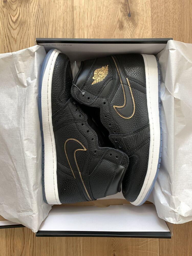 La Fourniture Nike Air Jordan 1 I Retro High Og Black Gold Us11.5 Eu45, 5