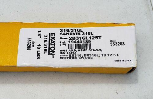 "Exaton ER316//316L 1//8/"" x 36/"" 10-Lbs Stainless Steel TIG Welding Filler Rod"