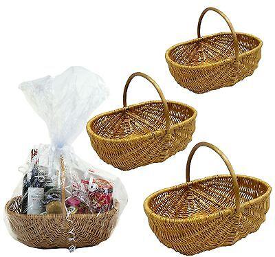 SALE Honey Full Wicker Shopping Vegetable Garden Basket Trug in 3 Sizes SALE