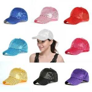 cbaa6248 Image is loading Womens-Girls-Ponytail-Baseball-Cap-Sequins-Shiny-Messy-