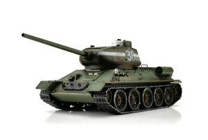 SûR Torro 1/16 Rc Ww2 Urss T-34 Medium Tank Rtr Metal Pro Edition Wooden Crate-afficher Le Titre D'origine