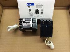 New EATON Cutler Hammer GFCB 2 pole 15 amp GFCB215 Circuit Breaker GF GFI GFCI