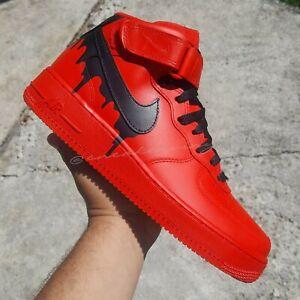 Nike Air Force 1 MID RED Black DRIP