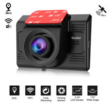 "TOGUARD Car Dash Camera 2.45"" WiFi FHD 1080P w/GPS Module DVR Video Cam UK STOCK"