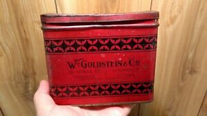 Rare tobacco tin Goldstein's Mixture Dominion Tobacco Co. Canada smoking tobacco