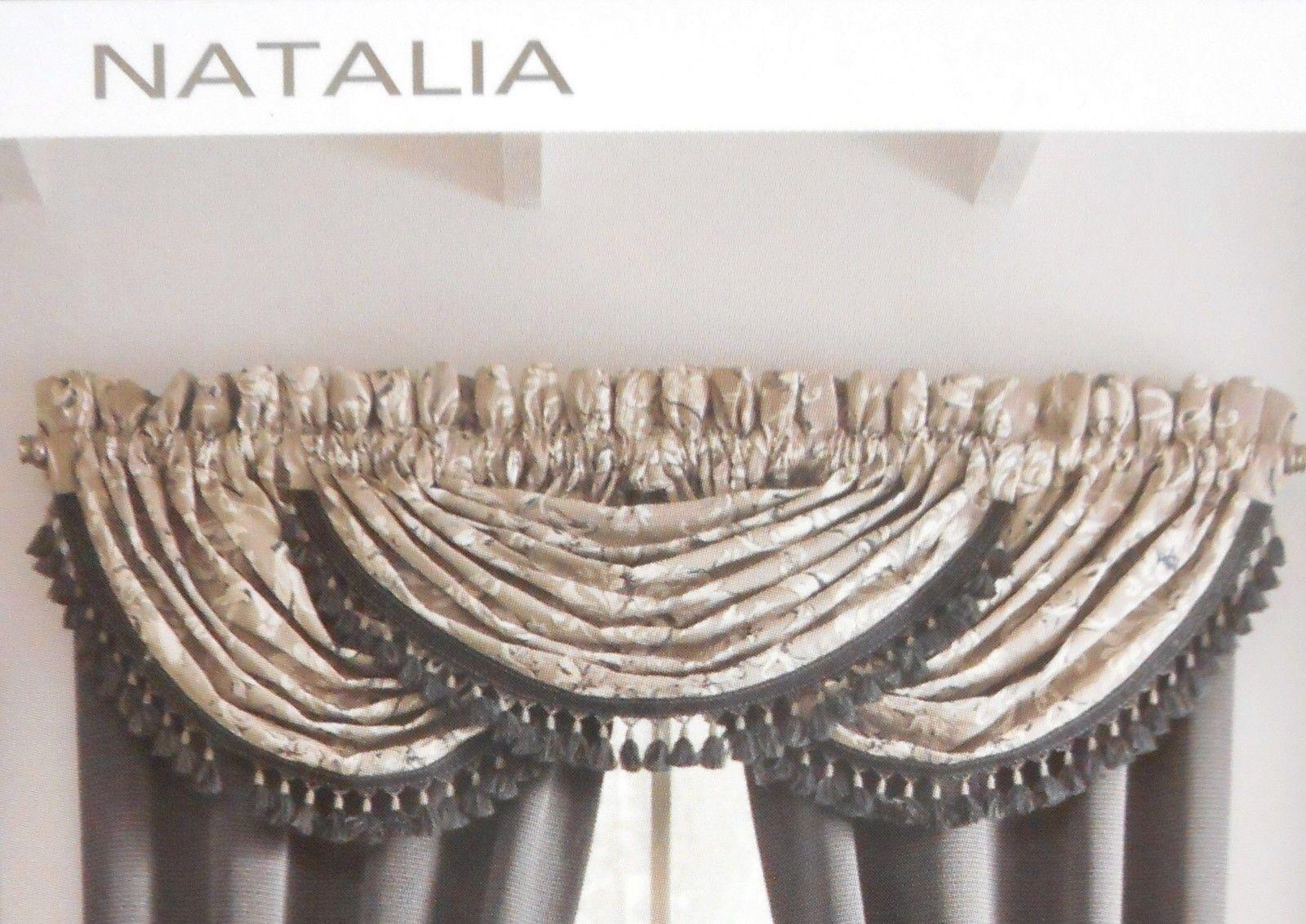 Croscill Natalia 80 Waterfall Swag Tailored Valance Window Top Treatment Nwot