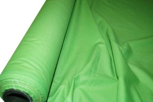 """100/% COTONE Lime tessuto tinta unita telo artigianato Quilting larghezza 150cm//60/"""""""