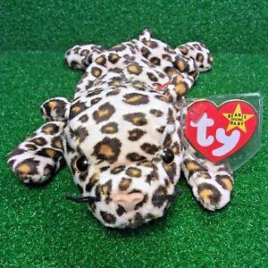 ca643f88114 Ty Beanie Baby FRECKLES Leopard Cat 1996 PVC 3rd GEN Plush Toy RARE ...