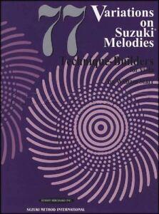 77 Variations Sur Suzuki Mélodies Technique Builers Pour Alto Sheet Music Book-afficher Le Titre D'origine