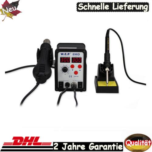 3 Nozzle Air Rework Solder 898D SMD Digital Station Heißluft Löten Lötkolben DHL