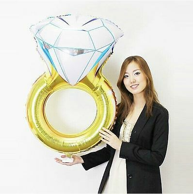 Encantador 80*50 Cm Diamant Ehering Verlobungsring Folienballons Dekoriert úLtima TecnologíA