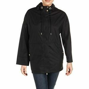 Calvin Klein Performance Womens Plus Fall Water Repellent Anorak Jacket Black 2X