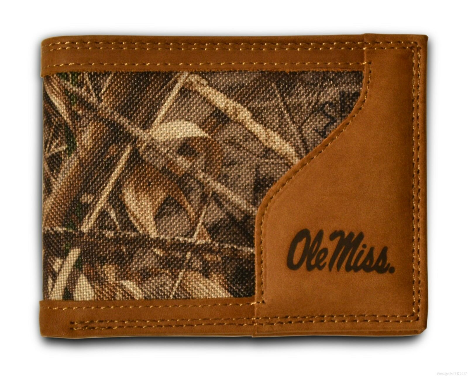 Camouflage NCAA Mississippi Old Miss Rebels Zep-Pro Bifold Concho Wallet