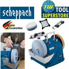 Scheppach TIGER 2000S Wet Stone Grinder Sharpening System 240V with Accessories