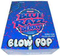 Charms Blue Raspberry Berry Blow Pops Suckers Candy Pop Bulk Lollipops 48