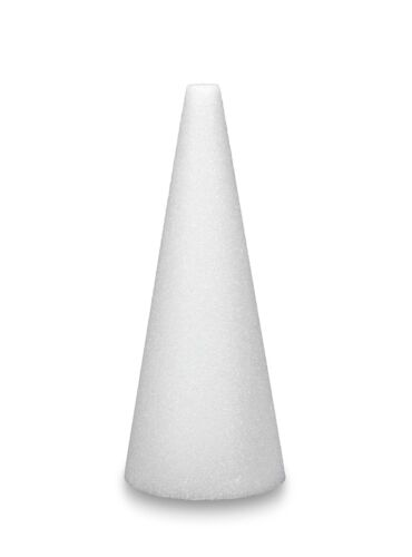 Floracraft Styrofoam Cone-12-inch x 4-inch