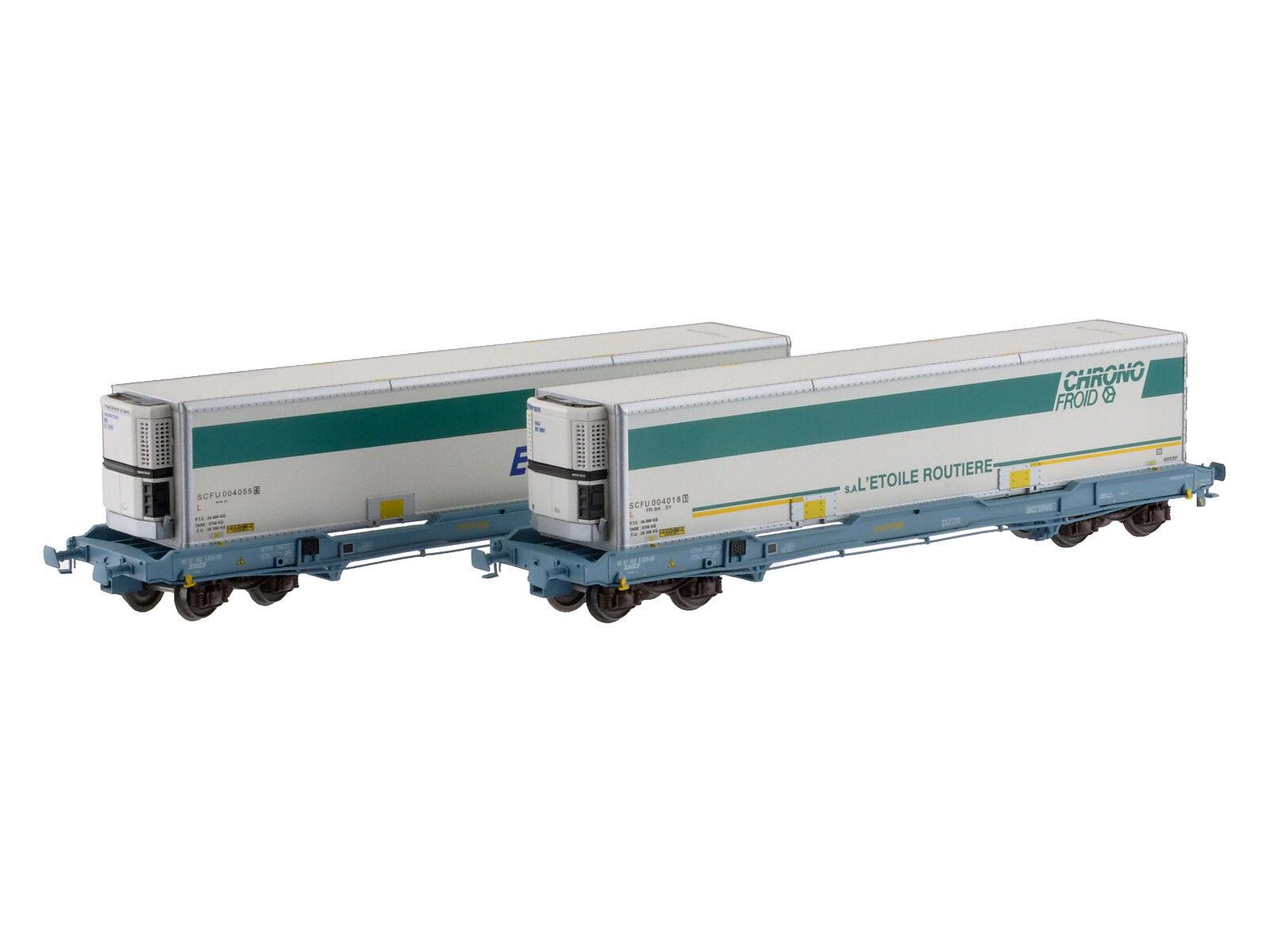 LS Models 30306 SNCF 2x 4 ACH containertragwag KC Nova Trans 40' chronofroid ep5