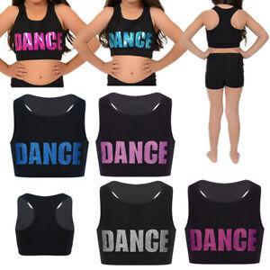 Girl-Kid-Dance-Vest-Sports-Crop-Tops-Ballet-Jazz-Gymnastics-Gym-Training-Bra-Top