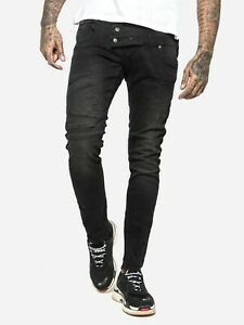 883 Police Mens Designer Stylish Engineered Dark Faded Wash Stretch Denim Jeans