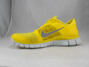 the best attitude fb8ff e9ef3 Details about Nice Used NIKE Free Run 3 Running Shoes in Yellow Men's size  9 1/2