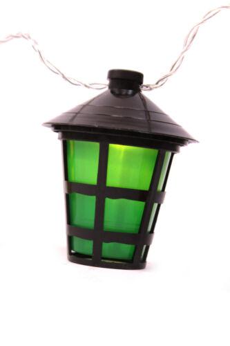 Party Lichterkette 10 bunte Laternen Lampion Lampe Garten Beleuchtung Batterie