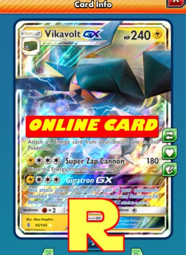 Regular Vikavolt GX digital ptcgo in Game Card for Pokemon TCG Online