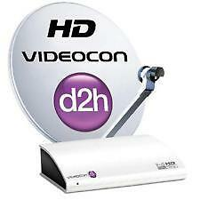Videocon d2h HD Set Top Box with 12 Months New North/ Souh Gold Sports pack