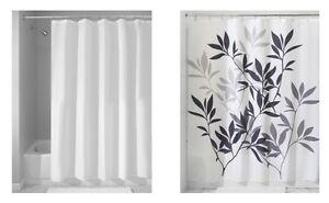 InterDesign Set Of 2 Shower Curtain Mildew Free Shower Curtain