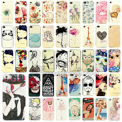 Painted Various Pattern Phone Hard Back Skin Case Cover for Apple IPhone 4 5S 5C