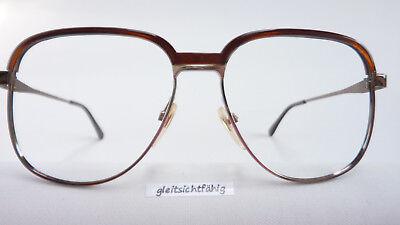 Generoso Vintagebrille Uomo Versione Quadrata Occhiali Oro Marrone Metallo Grandi Bicchieri Taglia M-mostra Il Titolo Originale