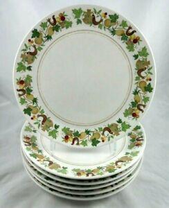 Noritake Homecoming Dinner Plates Set of 4 Birds /& Fruit Border Progression