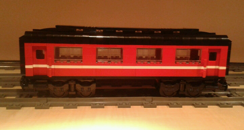 LEGO® City City City Eisenbahn roter Salonwaggon MOC bricktrain c8919e