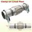 45mm-Echappement-Flexible-Adaptateur-Tresse-Tube-Male-Flex-50mm-200mm-Inox miniature 1