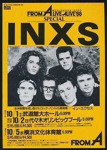 1988-INXS-Japan-Concert-Tour-Flyer-Handbill-Sydney-Australia-Rock-Band-Music