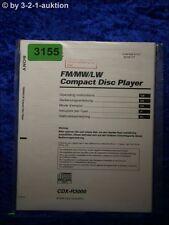 Sony Bedienungsanleitung CDX R3000 CD Player (#3155)