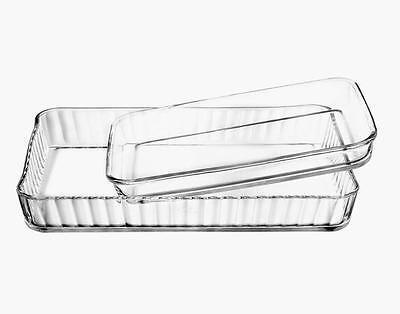 Borcam Glas Backform Auflaufform Servierform Glasform