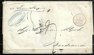Venezuela 1848 folded letter Puerto-Cabello to Bordeaux