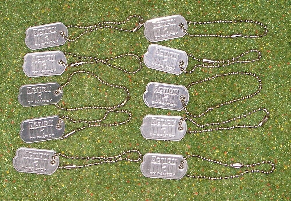 ACTION MAN 40th REPLACEMENT DOGTAGS DOG TAGS METAL FOR FOR FOR VINTAGE X 10 fd6d67