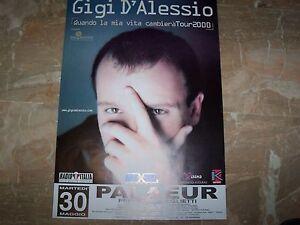 GIGI D'ALESSIO - LOCANDINA TOUR 2000    34 x 48