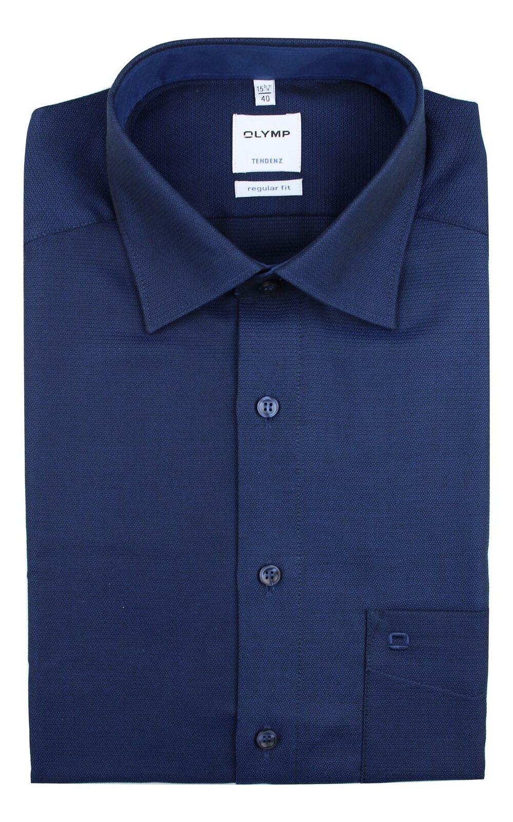 Navy Textured Spread Collar
