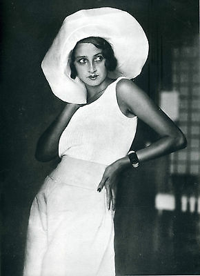 vintage old antique print lartigue photograph black white 1920 fashion model A3