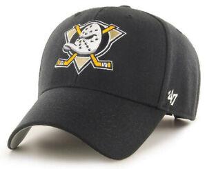 ANAHEIM MIGHTY DUCKS NHL MVP BLACK LEGEND STRAPBACK VINTAGE HAT CAP NEW 47 BRAND
