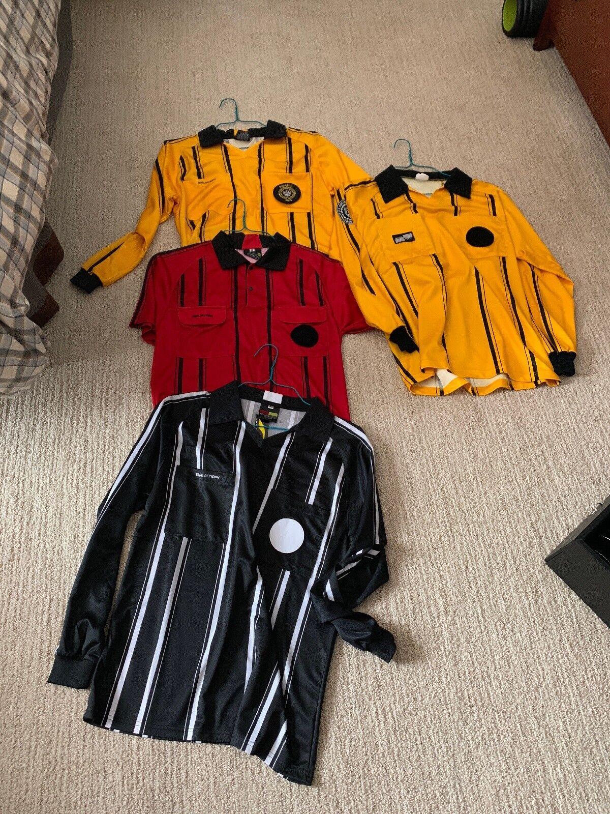 4 Soccer Referee Jerseys Size Small