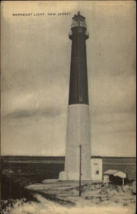 Barnegat NJ Lighthouse Old Postcard #2