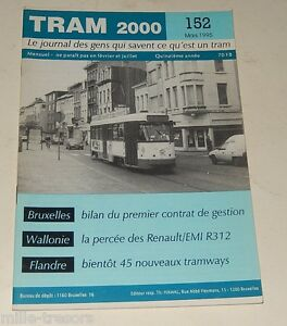 TRAM-2000-N-152-Fevrier-1995-TRAMWAY-AUTOBUS-STIB-RENAULT-EMI-R312